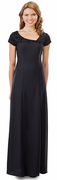 Formal Lillian Dress<br>Flocked Asymmetrical Neck Line Gown