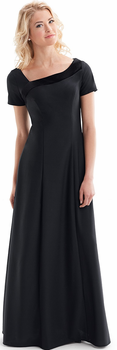 Haley Dress<br>Short Sleeve Crepe with Velvet Accent Choir Gown