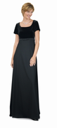 Harmonique<br>Black Velvet and Crepe Chorus Dress