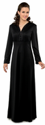 L/S 5 Button Empire-Black Gown for Orchestra or Choir Performers