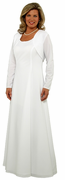 Long Sleeve White Shrug <br>  (Dress not included)