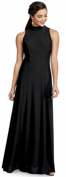 Annaka Dress<br>Sleeveless Banded High Neck Formal Gown