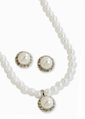 4 mm Pearl Pendant and Earring Set