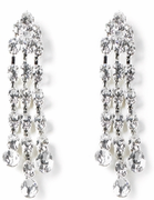 Cascading Triple Drop Rhinestone Pierced Earrings