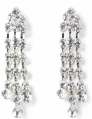 CLEARANCE-Cascading Triple Drop Rhinestone Pierced Earrings