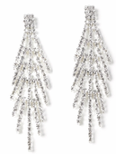 Pierced Rhinestone Spray Earrings