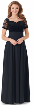 Selah Dress<br>Embossed Sheer Short Sleeve Choir Gown
