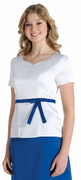 Athena<br>Short Sleeve Sweetheart Neckline Top