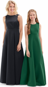 Adult Ashton Dress<br>Sleeveless Satin Jewel Neck Gown