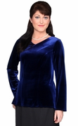 Velvet Tunic with neckline and sleeve options
