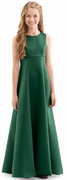 Youth Ashton Dress<br>Satin Sleeveless Jewel Neck Gown