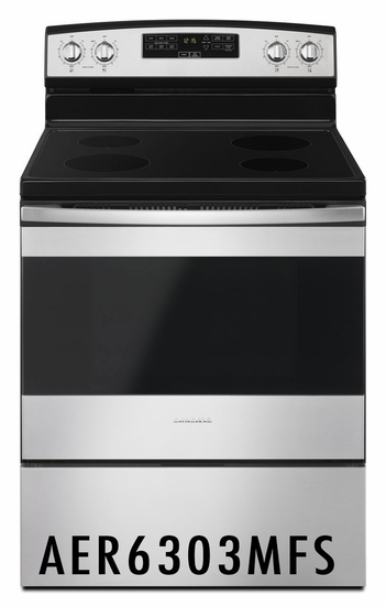 Amana 4.8 cu ft Range with Temp Assure™ Cooking System AER6303MFS