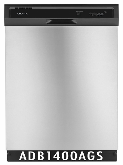 Amana 63 dBA Dishwasher with High-Temperature Wash Option, ENERGY STAR ADB1400AGS
