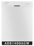 Amana 63 dBA Dishwasher with High-Temperature Wash Option, ENERGY STAR ADB1400AGW