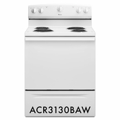 Amana ACR3130BAW 4.8 cu. ft. Electric Range, with Versatile Cooktop Elements