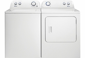 AMANA Pair Combo 3.5 Cu Ft Washer NTW4516FW and 6.5 Cu Ft Dryer NED4655EW