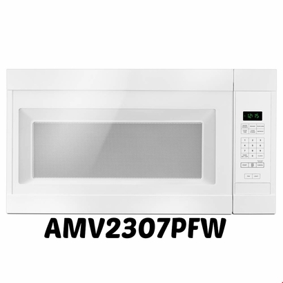 Amana White Over-The-Range Microwave Oven AMV2307PFW