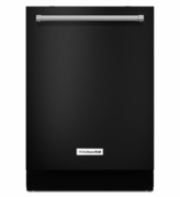 Black Kitchenaid Dishwasher with ProWash Cycle 46 dBA KDTE104EBL