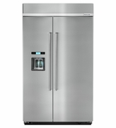 Built in Kitchenaid Side By Side Refrigerator 29 cubic feet  Model # KBSD618ESS