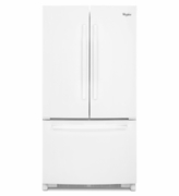 Counter Depth French Door Whirlpool White Refrigerator with Temperature-Controlled Full-Width Pantry - 20 cu. ft.36-inch Wide WRF540CWBW