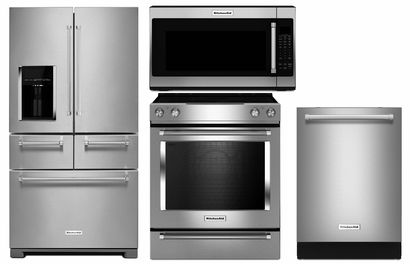 Kitchenaid New Design Appliance Package Refrigerator KRMF706ESS , Slide In  Range KSEG700ESS , Dishwasher 39 DBA KDTE254ESS , Microwave KMHS120ESS