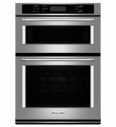 "KitchenAid 27"" Combination Wall Oven with Microwave Even-Heat True Convection KOCE507ESS (Lower Oven)"