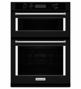 "KitchenAid 30"" Combination Wall Oven with Microwave Even-Heat True Convection KOCE500EBL (Lower Oven)"