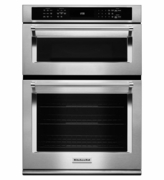 "KitchenAid 30"" Combination Wall Oven with Microwave Even-Heat True Convection KOCE500ESS (Lower Oven)"