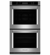 "KitchenAid  30"" Double Wall Oven with Even-Heat� True Convection (Upper Oven) KODE300ESS"