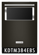 KitchenAid 44 dBA Dishwasher with Window and Lighted Interior KDTM384EBS in Black Stainless Steel