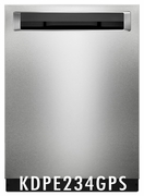 KitchenAid 46 DBA Dishwasher with Third Level Rack and PrintShield� Finish, Pocket Handle KDPE234GPS