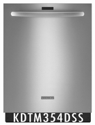 KitchenAid Architect Series II 43 dBA Dishwasher with Clean Water Wash System KDTM354DSS