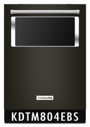 KitchenAid 44 dBA Black Stainless Integrated Console Dishwasher with Window and Lighted Interior KDTM804EBS