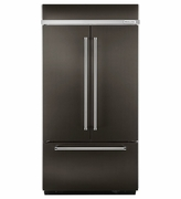 Kitchenaid Built-In Black Stainless Steel French Door Refrigerator with Platinum Interior Design 24.2 cu. ft. 42 inches wide Model #KBFN502EBS