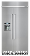 Kitchenaid built in Fridge KBSD602ESS 42-Inch Width Built-In Side by Side Refrigerator 25.0 Cu. Ft.