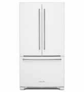 Kitchenaid 20 cu. ft. Counter-Depth Refrigerator with Interior Dispense, FreshChill Temperature-Controlled Full-Width Pantry KRFC300EWH