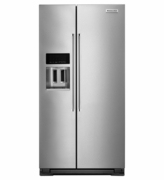 Kitchenaid Counter Depth Side-by-Side Refrigerator with Exterior Ice and Water 22.7 Cu. Ft KRSC503ESS