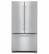 Kitchenaid Counter Depth Stainless Steel French Door Refrigerator KRFC302ESS with Interior Dispense 22 cu. ft. 36-Inch Wide