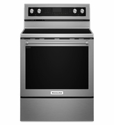Kitchenaid Electric Range 6.4cu ft. 30-Inch 5-Element Stainless Steel Electric Convection Range KFEG500ESS