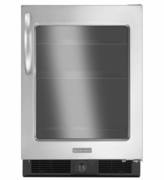 KitchenAid KURG24RWBS Specialty Mini Refrigerator, Right-Hand Door Swing, 5.6 Cu. Ft. 24''  Architect  Series I