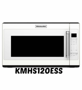 Kitchenaid Microwave White KMHS120EWH with 7 Sensor Functions 1000-Watt 30 inch