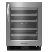 KitchenAid Mini Refrigerator KUWR304CSS 24'' Wine Cellar, Right-Hand Door Swing, Architect  Series II