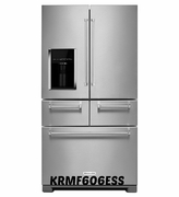 Kitchenaid 25.8 Cu. Ft. 5-Door Stainless Steel Refrigerator with Preserva Food Care System KRMF606ESS
