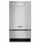 KitchenAid Stainless Steel Ice Maker  KUIC18NNZS 18'' Automatic Ice Maker