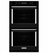 "KitchenAid Black 30"" Double Wall Oven KODE500EBL with Even-Heat True Convection"
