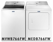MAYTAG Pair Combo 4.7 u. Ft Washer MVWB766FW and 7.0 Cu Ft Dryer MEDB766FW 5 Year Warranty