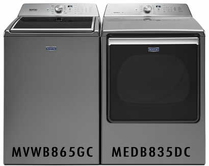 MAYTAG 5.2 CU. FT. CAPACITY WASHER MVWB865GC and MAYTAG 8.8 CU. FT. EXTRA-LARGE CAPACITY DRYER MEDB835DC