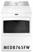 Maytag 7.4 cu. ft. Dryer with 9 Dry Cycles, 5 Temperature Settings, Sanitize Cycle, Drum Lighting, Wrinkle Prevent Option, IntelliDry� Sensor MEDB765FW