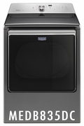 MAYTAG 8.8 CU. FT. EXTRA-LARGE CAPACITY DRYER WITH ADVANCED MOISTURE SENSING MEDB835DC