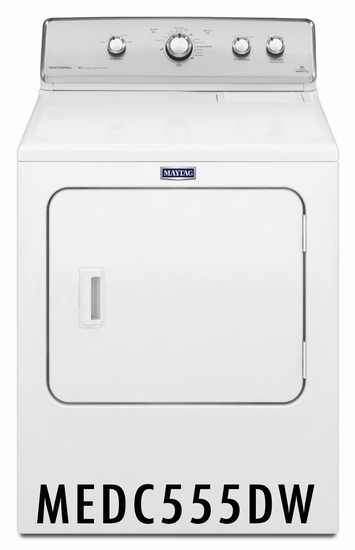 Maytag Centennial 7.0 Cu. Ft. Electric Dryer with 10-Year Limited Parts Warranty MEDC555DW